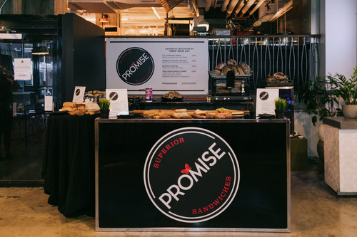 Branded as 'Promise Superior Sandwiches' Promise Gluten Free ran a one-day, fake pop-up shop at Assembly Chef's Hall to get Torontonians to try their gluten-free breads. 400 did and were shocked the bread was all gluten-free. (CNW Group/Promise Gluten Free)