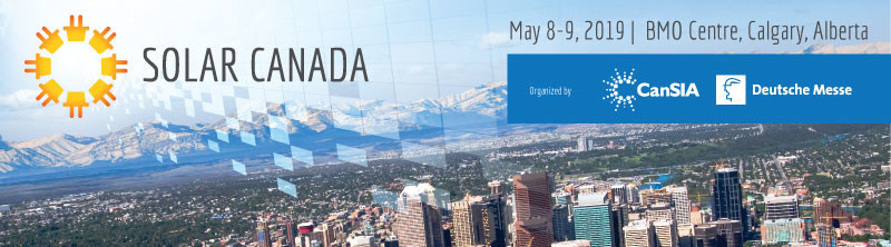 Solar Canada Annual Conference and Exhibition May 8-9, 2019 | Calgary, Alberta A must-attend event for solar energy professionals, stakeholders and advocates (CNW Group/Canadian Solar Industries Association)