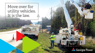 """In July of 2016, utility vehicles were included in Georgia's """"Move Over Law,"""" which requires drivers to move over one lane when crews are working on the roadside."""