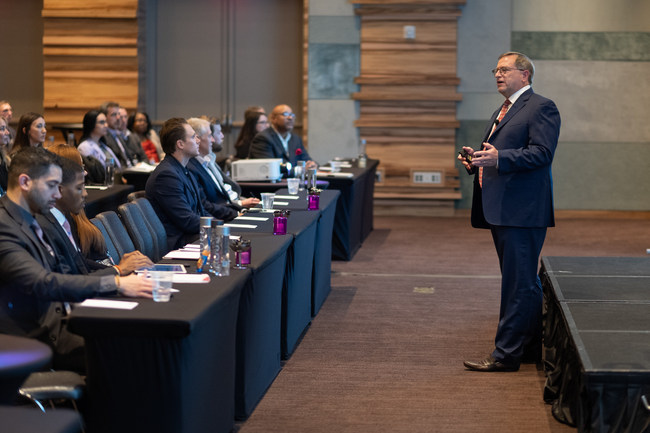 Steven Wester, President of Global Mobility Solutions, addressing attendees at the company's 2019 Partner Forum.