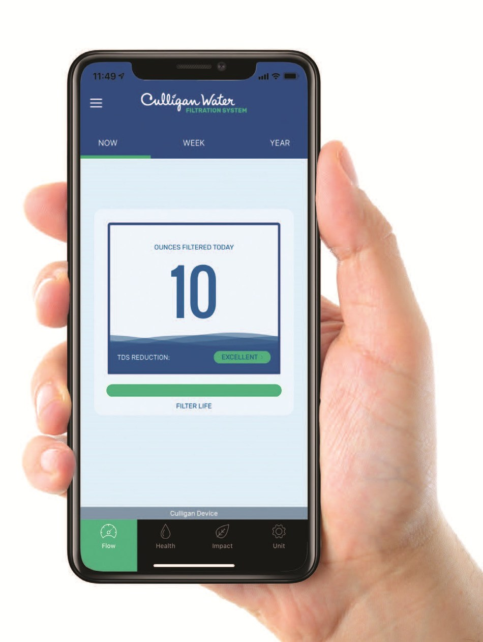 The new ClearLink Connect and Drinking Water Connect accessories link Culligan's AC-30 and Aqua-Cleer® drinking water systems to the Culligan Connect Wi-Fi mobile app.