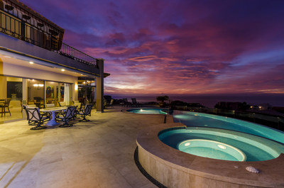 Sunsets - as seen from the property's pool deck – are especially striking. More at CaboLuxuryAuction.com.