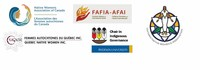 Logos: AFAC, AFAI, ONWA, FAQ, Chair in Indigenous Governance - Ryerson University (Groupe CNW/Association des femmes autochtones du Canada)