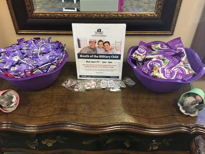 Shaw Family Housing offers up goodies to support Month of the Military Child (PRNewsfoto/Hunt Military Communities)
