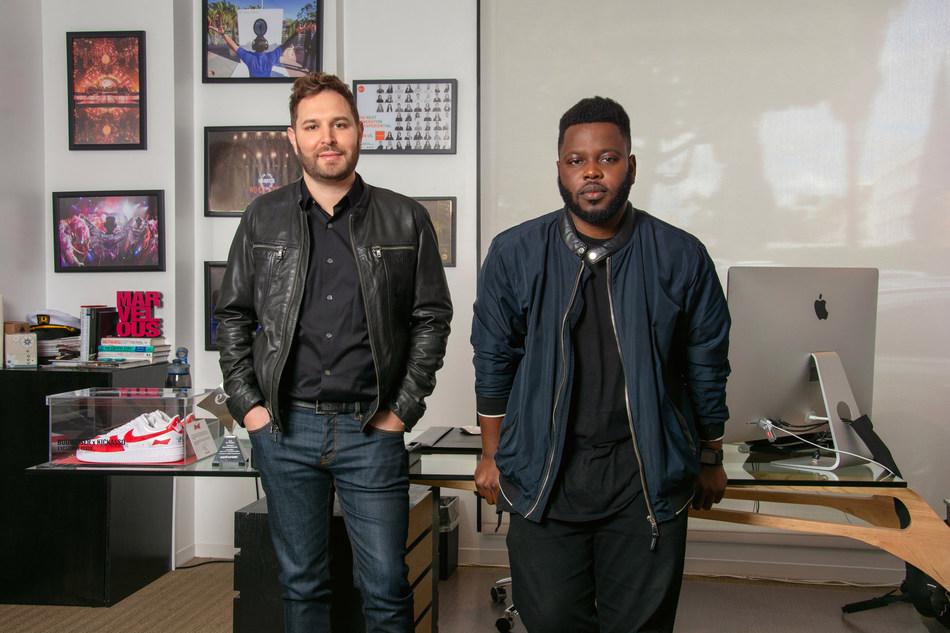 NVE Founder & President, Brett Hyman (left), The Future Party President, Boye Fajinmi (right)