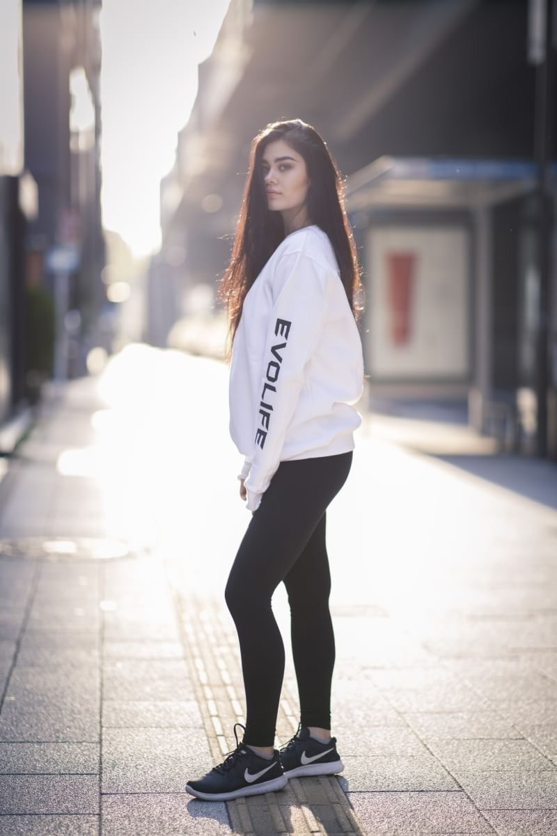 Unisex Evolife Limited Edition Sweatshirt; https://www.evolifeapparel.com/product/black-sweater/