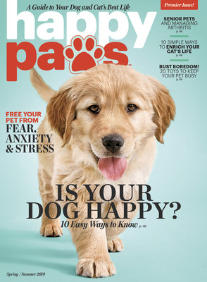 Happy Paws, A Guide To Your Dog And Cat's Best Life, Debuts On Newsstands Today