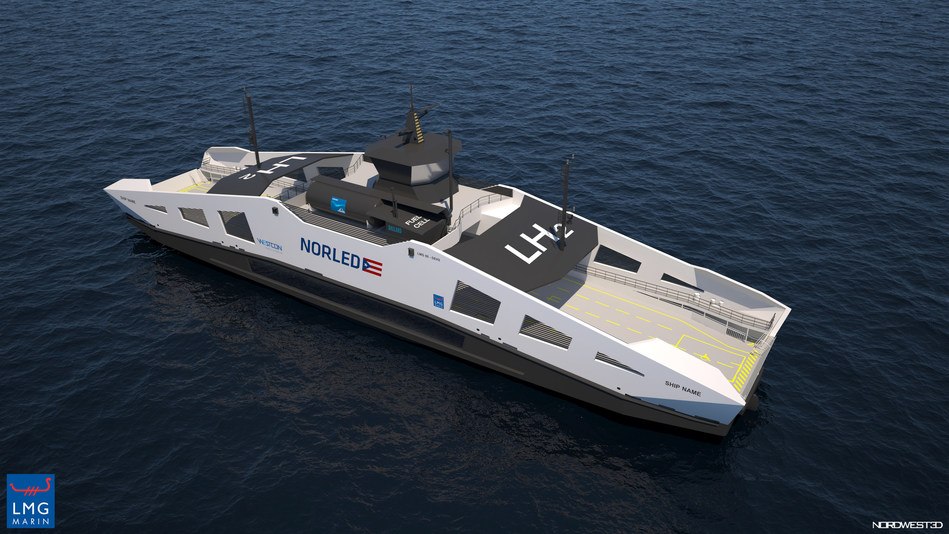 Norled ferry to be powered by a hybrid combination of Ballard fuel cell modules together with batteries (CNW Group/Ballard Power Systems Inc.)