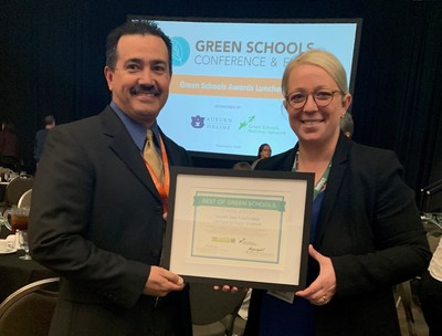 ENGIE Services U.S. team members celebrate partner South San Francisco USD's 2019 Best of Green Schools designation at the awards ceremony on Monday, April 8, 2019.
