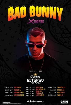 CORONA ESTÉREO BEACH x BAD BUNNY X100PRE TOUR DATES