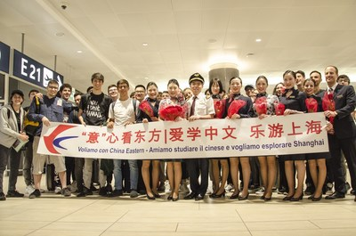 China Eastern Airlines kicks off the new A350-900 service for its Shanghai-Roman route