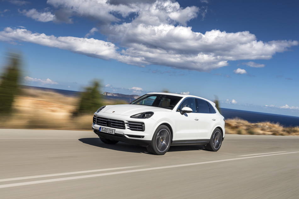 The Cayenne recorded growth of 35 percent.
