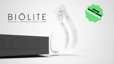 BIOLITE. The World's Thinnest Reading Light.