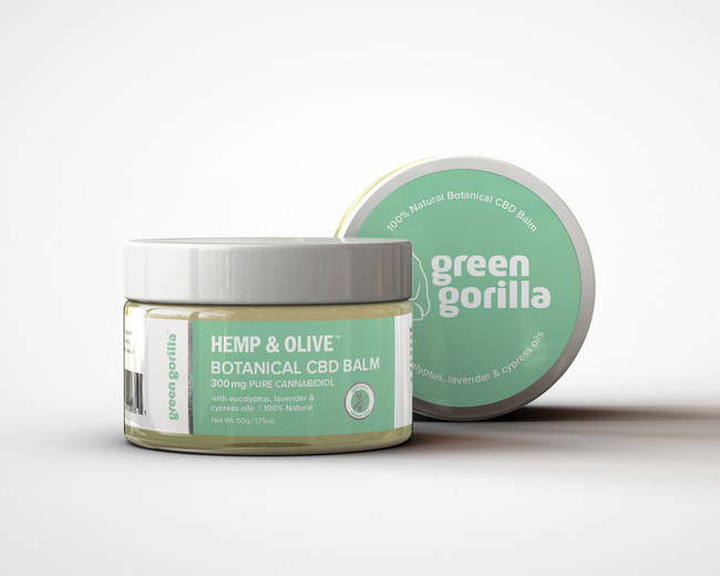 Green Gorilla Launches USDA-Certified, Made With Organic Ingredients, Botanical CBD Balm to Help Treat Muscle Soreness and Inflammation