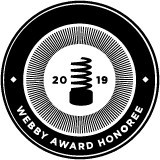 The Webby Awards Honoree badge for outstanding work in the development of service and utility apps.