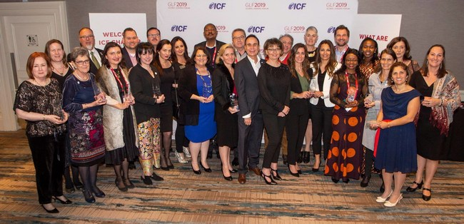 The International Coach Federation (ICF) celebrated its 2018 Chapter Recognition honorees during a March 22, 2019, ceremony at the organization's Global Leaders Forum in Dublin, Ireland.