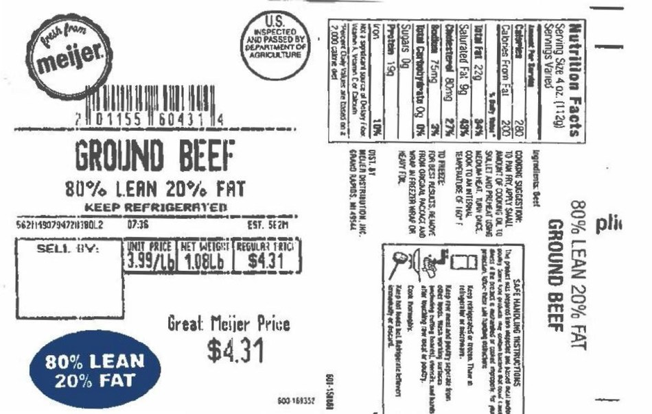 JBS Plainwell Recalls Meijer Ground Beef as a Precautionary Measure Due to Potential Presence of Extraneous Material