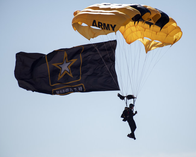 The U.S. Army Golden Knights Parachute Team has performed at more than 16,000 air shows over the past 50 years.