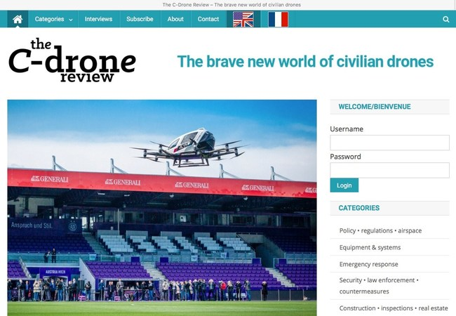 The C-Drone Review® covers the drone industry as well as the nascent air taxi industry.