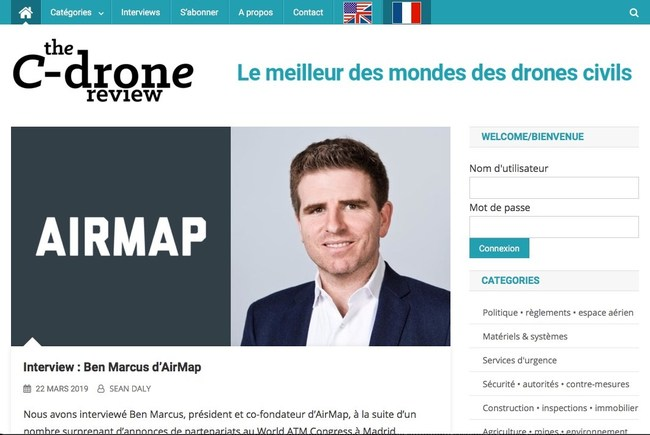 The C-Drone Review® offers French readers the latest news from the US.