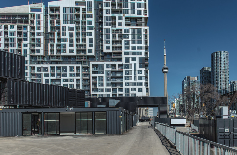 stackt, the highly anticipated new community destination, opens in Toronto at Bathurst & Front Streets. Photo by Farrell Tremblay (CNW Group/stackt)