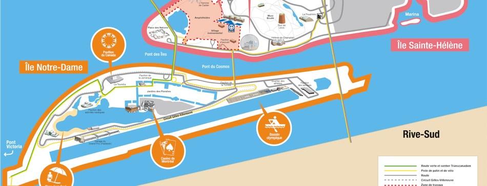 Carte du parc Jean-Drapeau (Groupe CNW/Office de consultation publique de Montréal)