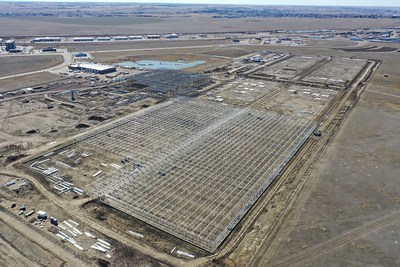Construction of Aurora Sun, March 2019 (CNW Group/Aurora Cannabis Inc.)