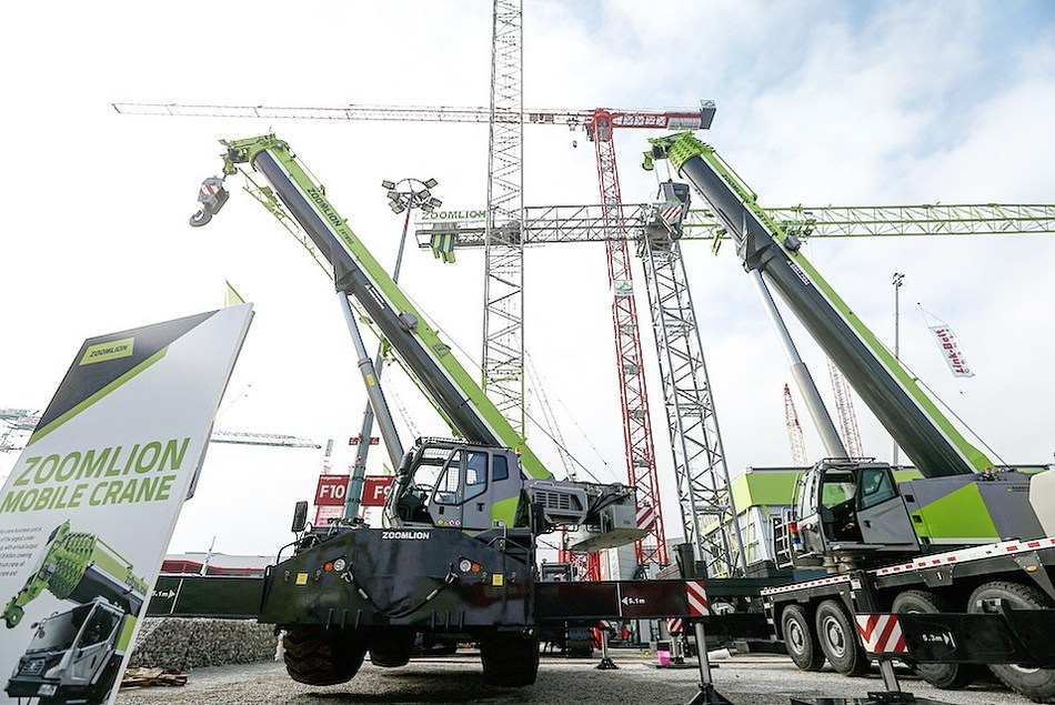 Zoomlion Highlights Intelligent and Sustainable Cranes at bauma 2019