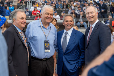 Don Logan, Governor Steve Sisolak, David R. Weinreb, Steve Hill - credit to The Howard Hughes Corporation