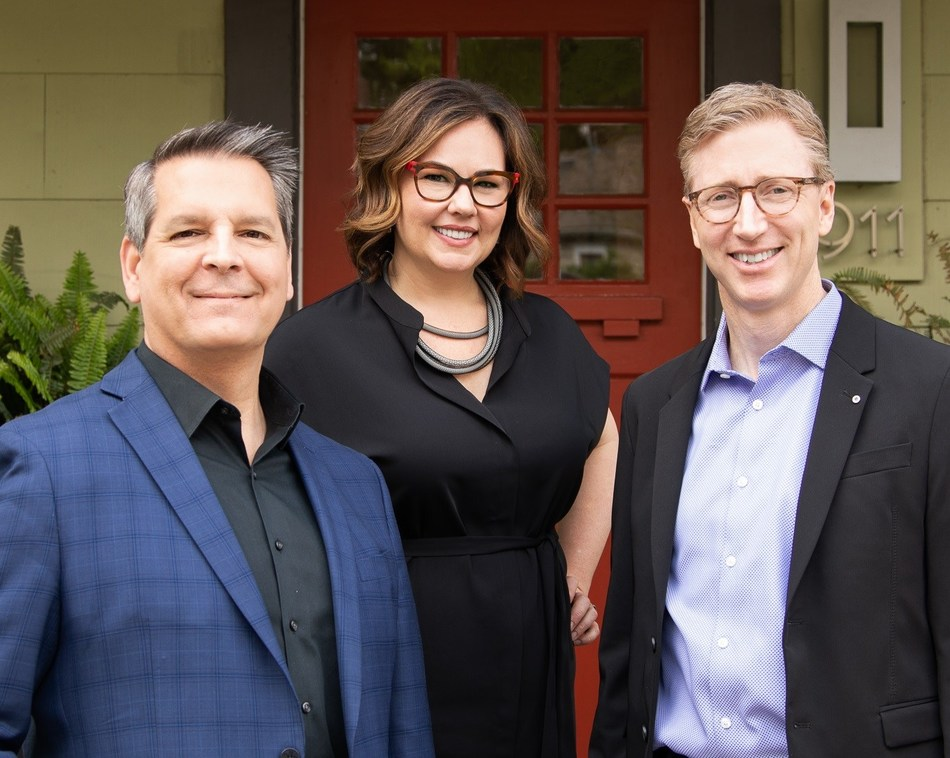 Laura Britt Design Expands Leadership By Appointing New VP/Principal and New GM. [Pictured - Tim Schelfe, FASID with Laura Britt, RID, ASID and Jeff Capra of Laura Britt Design]