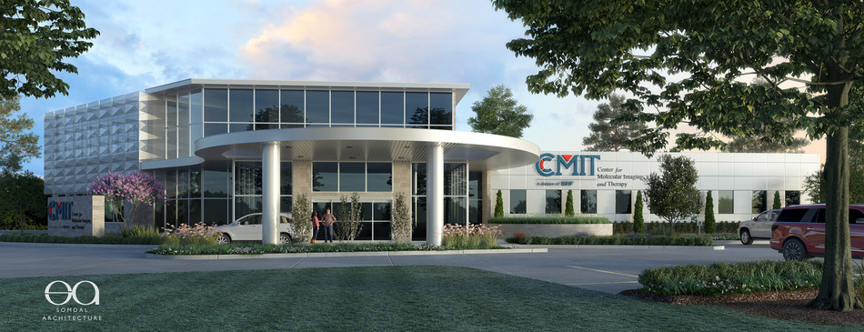 Architect rendering of new Center for Molecular Imaging and Therapy in Shreveport, La.