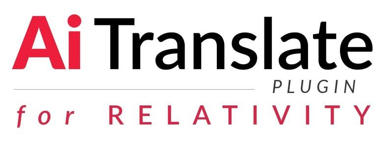 Ai Translate Plugin for Relativity
