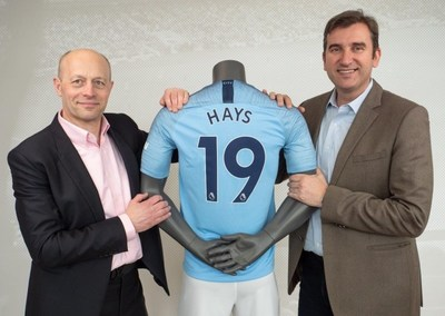 Sholto Douglas-Home, Chief Marketing Officer of Hays and Ferran Soriano, Chief Executive Officer of Manchester City