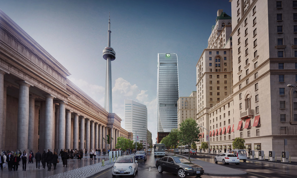 Cadillac Fairview and Investment Management Corporation of Ontario Welcome TD Bank Group to Their Landmark Development at 160 Front Street West (CNW Group/Cadillac Fairview)