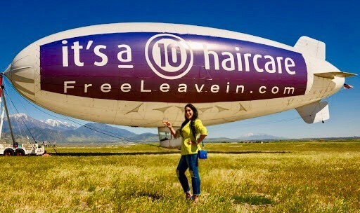 It's a 10 Haircare CEO Carolyn Aronson with Free Leave-In Blimp