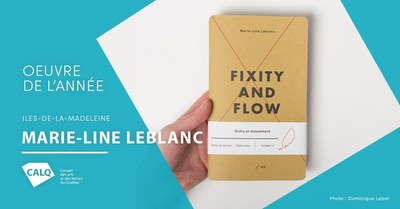 Marie-Line Leblanc, lauréate du prix du CALQ - Oeuvre de l'année aux Îles-de-la-Madeleine pour son oeuvre Fixity and Flow (Groupe CNW/Conseil des arts et des lettres du Québec)