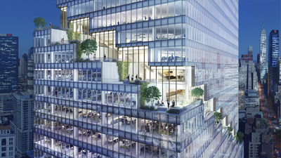 Rendering of The Spiral's cascading terraces. Credit: Tishman Speyer