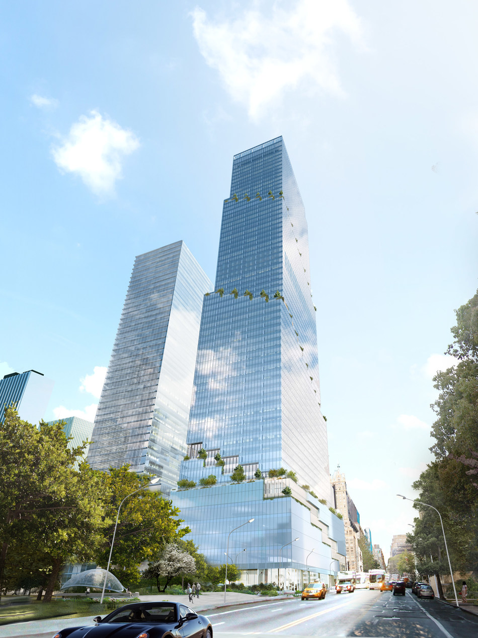 Rendering of Tishman Speyer's The Spiral office tower in Manhattan. Credit: Tishman Speyer