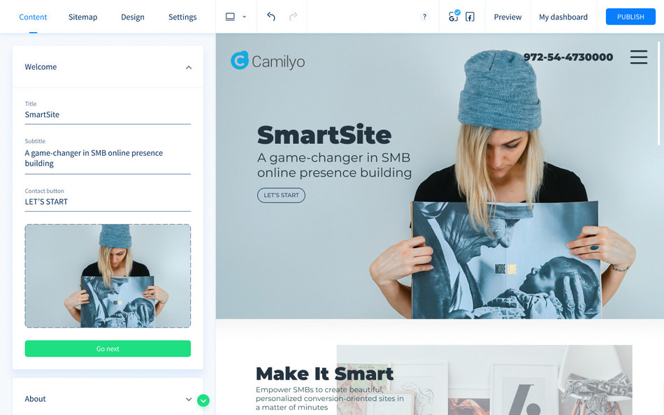 Camilyo Launches SmartSite, an AI-powered Website Creation Platform