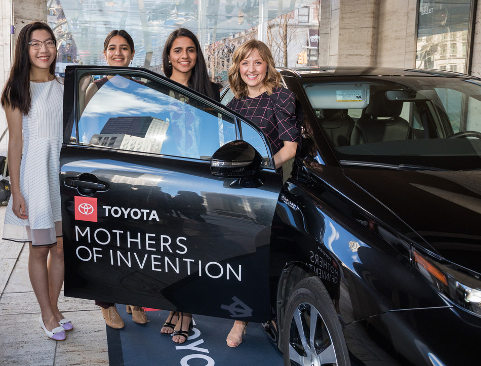 Toyota Honors 2019 Mothers of Invention Jeanny Yao, Shubham Issar, Amanat Anand and Paige Chenault at the 10th Annual Women in the World Summit.