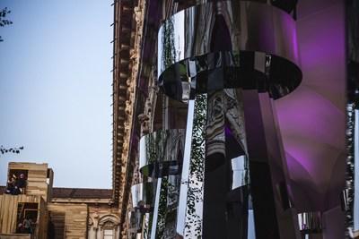 "Polish glass icon KROSNO shines bright in Milan Exposition ""Sacred Geometry"" within the framework of Fuorisalone. (PRNewsfoto/KROSNO)"
