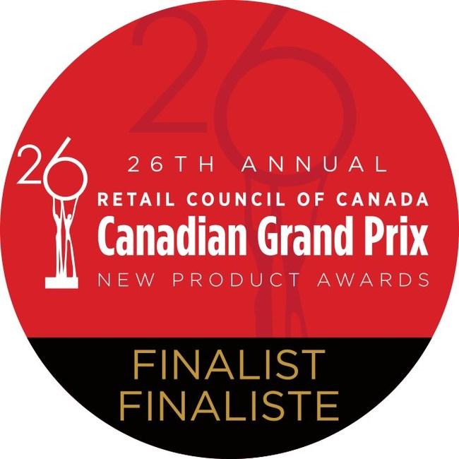 26th Annual Retail Council of Canada Canadian Grand Prix New Product Awards Finalist (CNW Group/Retail Council of Canada)