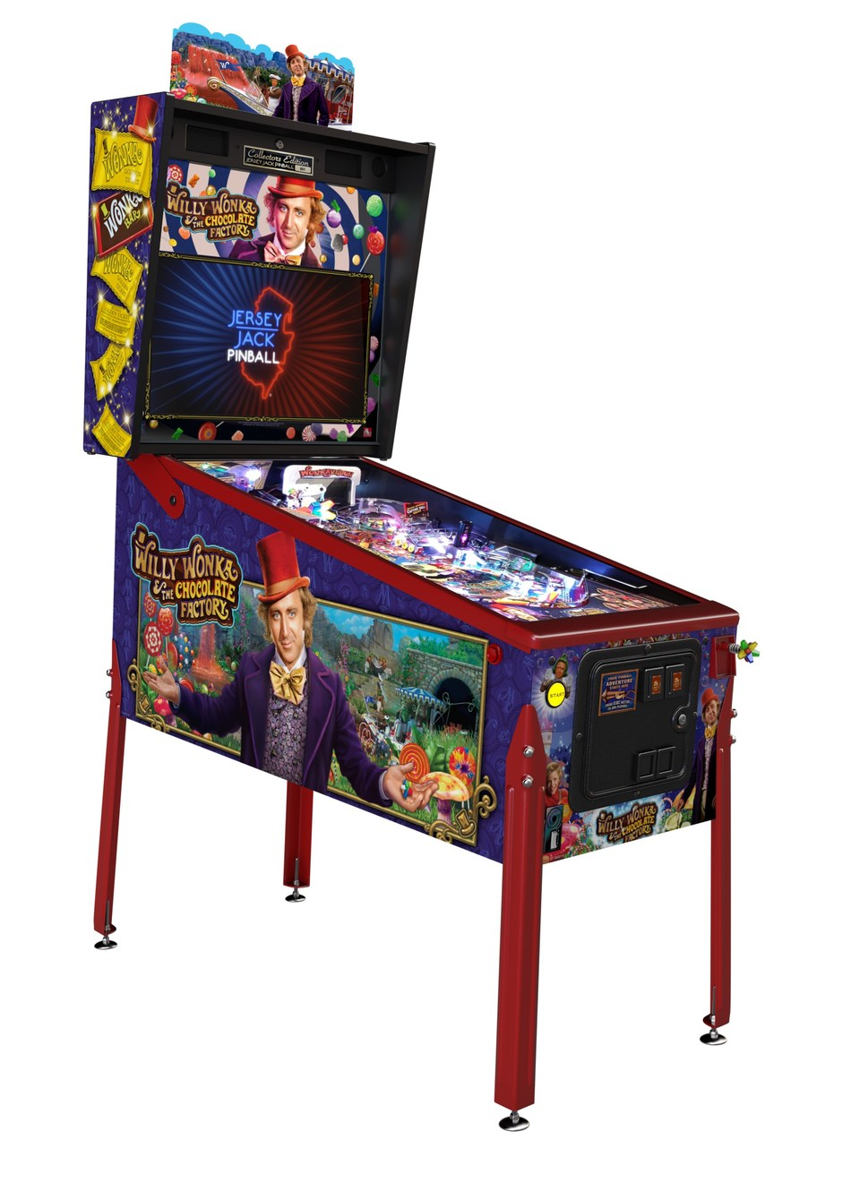 Willy Wonka and the Chocolate Factory™ pinball machine - Collector's Edition model.
