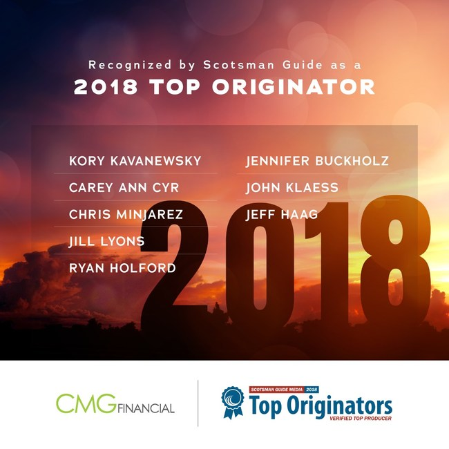 CMG Financial 2018 Scotsman Guide Top Originators