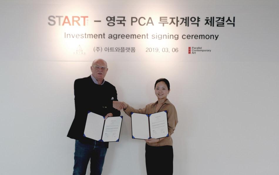 PCA Founder David Ciclitira, left, and ARTWA Platform CEO SunJu Lee. Courtesy of ARTWA Platform.