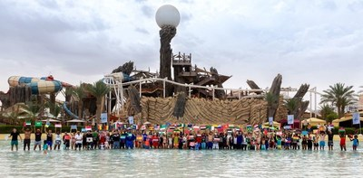 Most Nationalities In a Swimming Pool at Yas Waterworld.