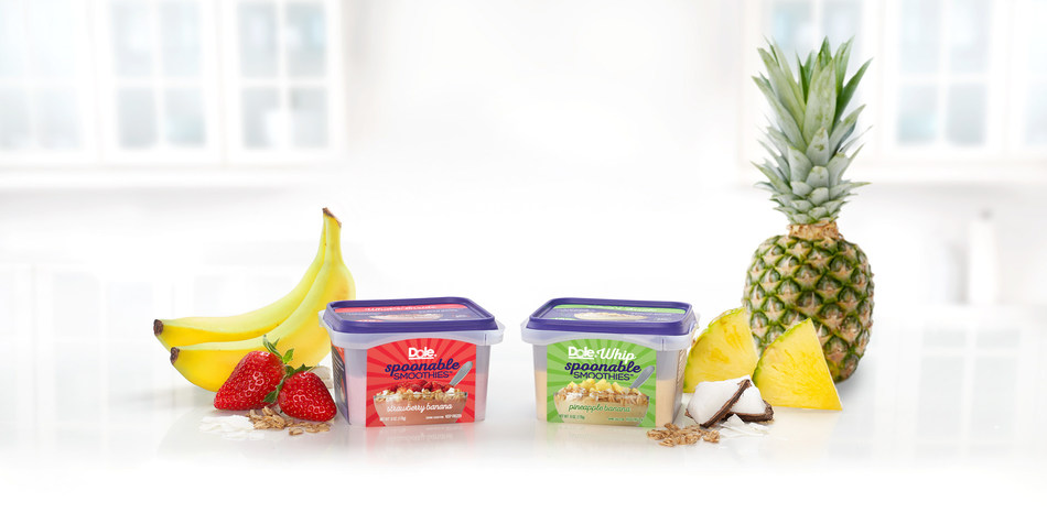 These smoothie bowls are launching in two new flavors this spring: Dole Whip Spoonable Smoothies™ Pineapple Banana and Dole Spoonable Smoothies™ Strawberry Banana