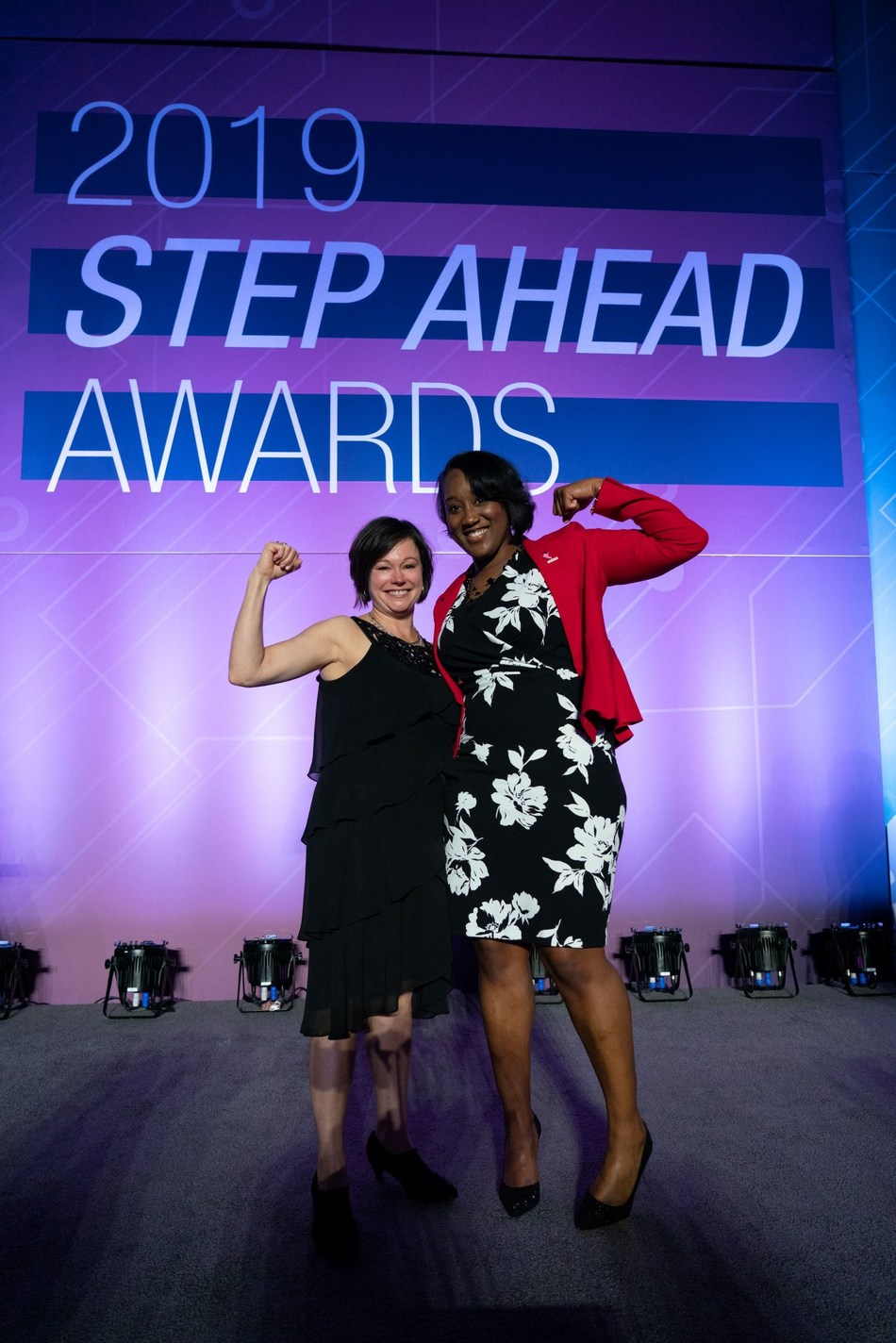 The Manufacturing Institute honored Toyota team members Renee Robertson and Shamaya Morris for excellence in their careers during the Women in Manufacturing STEP Ahead Awards Program. Photo by David Bohrer/National Association of Manufacturers.