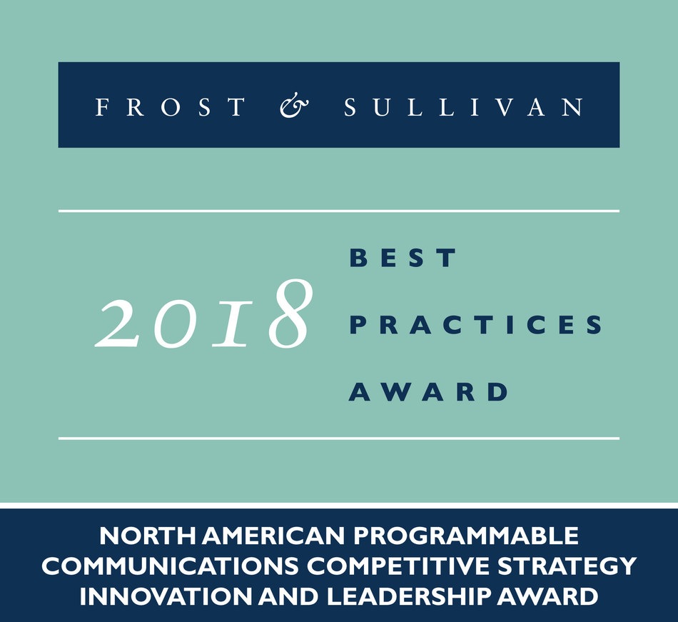 2018 North American Programmable Communications Competitive Strategy Innovation and Leadership Award (PRNewsfoto/Frost & Sullivan)