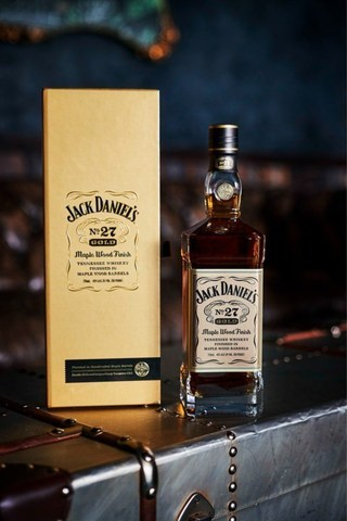 Jack Daniel's is officially introducing Jack Daniel's No. 27 Gold Tennessee Whiskey to the United States. A double-barreled and double-mellowed expression of its classic Jack Daniel's Old No. 7 Tennessee Whiskey, the premium bottle brings a fusion between warm maple and toasted oak to create a rich and refined finish.